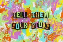 Cuénteles su historia stock de ilustración