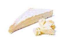 Cuña del queso gastrónomo del brie fotos de archivo