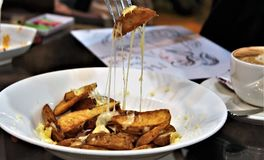 Cuñas caseosas de la patata Imagen de archivo