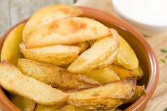 Cuñas de la patata Imagen de archivo