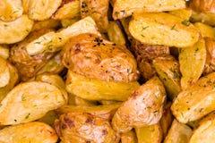 Cuñas fritas de la patata Imagen de archivo libre de regalías