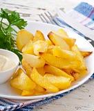 Cuñas fritas de la patata Imagen de archivo