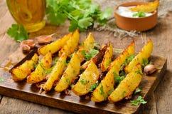 Cuñas fritas de la patata Foto de archivo libre de regalías
