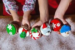 Cu пипермента шоколада идеи десерта меню обедающего рождественской вечеринки стоковая фотография rf