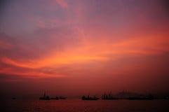 Céu ardente Imagem de Stock