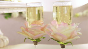 CU Champagnes bubbles stock footage
