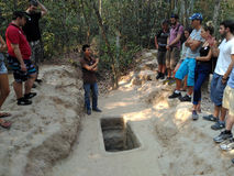 Cu Chi Tunnel in Vietnam Royalty Free Stock Photography