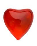 Cu d'ardore rosso del cuore del biglietto di S. Valentino Immagini Stock Libere da Diritti