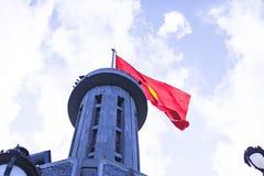 CU de POUMON, HA GIANG, VIETNAM, le 20 octobre 2018 : Mât de drapeau de Lung Cu où province de Ha Giang, Vietnam photographie stock libre de droits