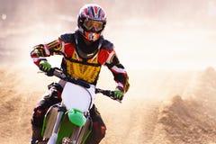 Cu del jinete de Moto x Imagen de archivo libre de regalías