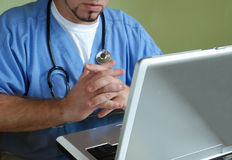 CU Doctor with stethoscope Stock Images