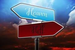 Céu e inferno Fotografia de Stock