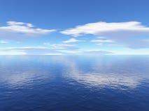 Céu e oceano Fotografia de Stock