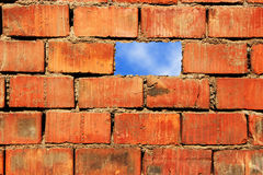 Céu e parede Fotografia de Stock
