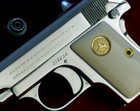 CU Hammerless della pistola della tasca del puledro 1908 Fotografie Stock Libere da Diritti