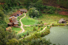 Cu Lan tribal village. In the north of Da Lat city, Lam Dong province, highland of Viet Nam Royalty Free Stock Images