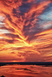 Céu lindo do por do sol Foto de Stock Royalty Free