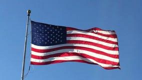 CU que agita 2017430 de la bandera americana almacen de metraje de vídeo