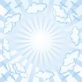Céu-um-fundo Imagem de Stock