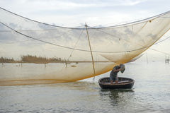 Cua戴海滩,会安市市,广南省,越南 免版税库存图片