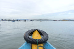 Cua戴海滩,会安市市,广南省,越南 免版税库存照片