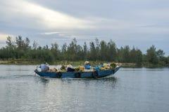 Cua戴海滩,会安市市,广南省,越南 图库摄影