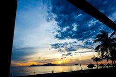 Cua Dai Beach - Hoi An. Early aurora 5am Cua Dai Beach, Hoi An Stock Photos