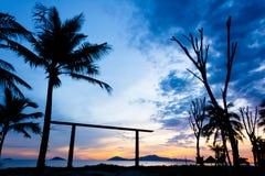 Cua Dai Beach - Hoi An. Early aurora 5am Cua Dai Beach, Hoi An Royalty Free Stock Photos