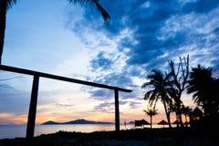 Cua Dai Beach - Hoi An. Early aurora 5am Cua Dai Beach, Hoi An Royalty Free Stock Photo