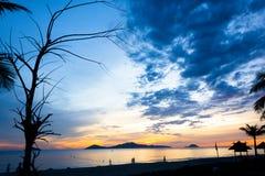 Cua Dai Beach - Hoi An. Early aurora 5am Cua Dai Beach, Hoi An Stock Photography
