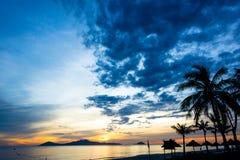 Cua Dai Beach - Hoi An. Early aurora 5am Cua Dai Beach, Hoi An Royalty Free Stock Image