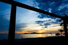 Cua Dai Beach - Hoi An. Early aurora 5am Cua Dai Beach, Hoi An Royalty Free Stock Images