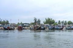 Cua Dai plaża, Hoi miasto, Quang Nam prowincja, Wietnam zdjęcia royalty free