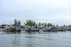 Cua Dai plaża, Hoi miasto, Quang Nam prowincja, Wietnam obraz stock