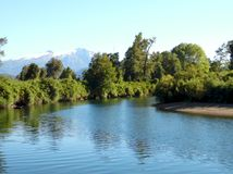 Cua Cua river in the south of Chile stock photography