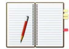 Cuaderno 01 Foto de archivo libre de regalías