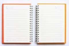 Cuaderno Fotografía de archivo