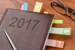 Cuaderno 2017 Imágenes de archivo libres de regalías