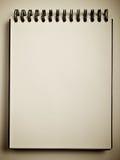 Cuaderno abierto Fotografía de archivo libre de regalías