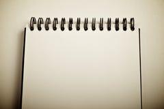 Cuaderno abierto Imagen de archivo libre de regalías