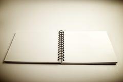 Cuaderno abierto Imagenes de archivo