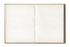 Cuaderno abierto del espacio en blanco del vintage Imagen de archivo