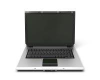 cuaderno abierto del ordenador portátil del ejemplo 3d Imagen de archivo libre de regalías