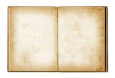 Cuaderno abierto del viejo grunge imagenes de archivo