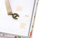 Cuaderno abierto en Año Nuevo Imagen de archivo