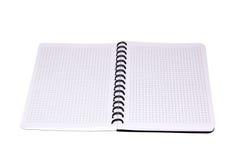Cuaderno aislado. Fotografía de archivo libre de regalías