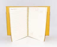 Cuaderno aislado Foto de archivo libre de regalías