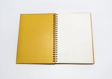 Cuaderno aislado Fotos de archivo libres de regalías