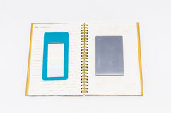 Cuaderno aislado Fotografía de archivo