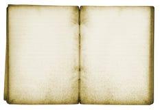 Cuaderno aislado de la vendimia Fotos de archivo